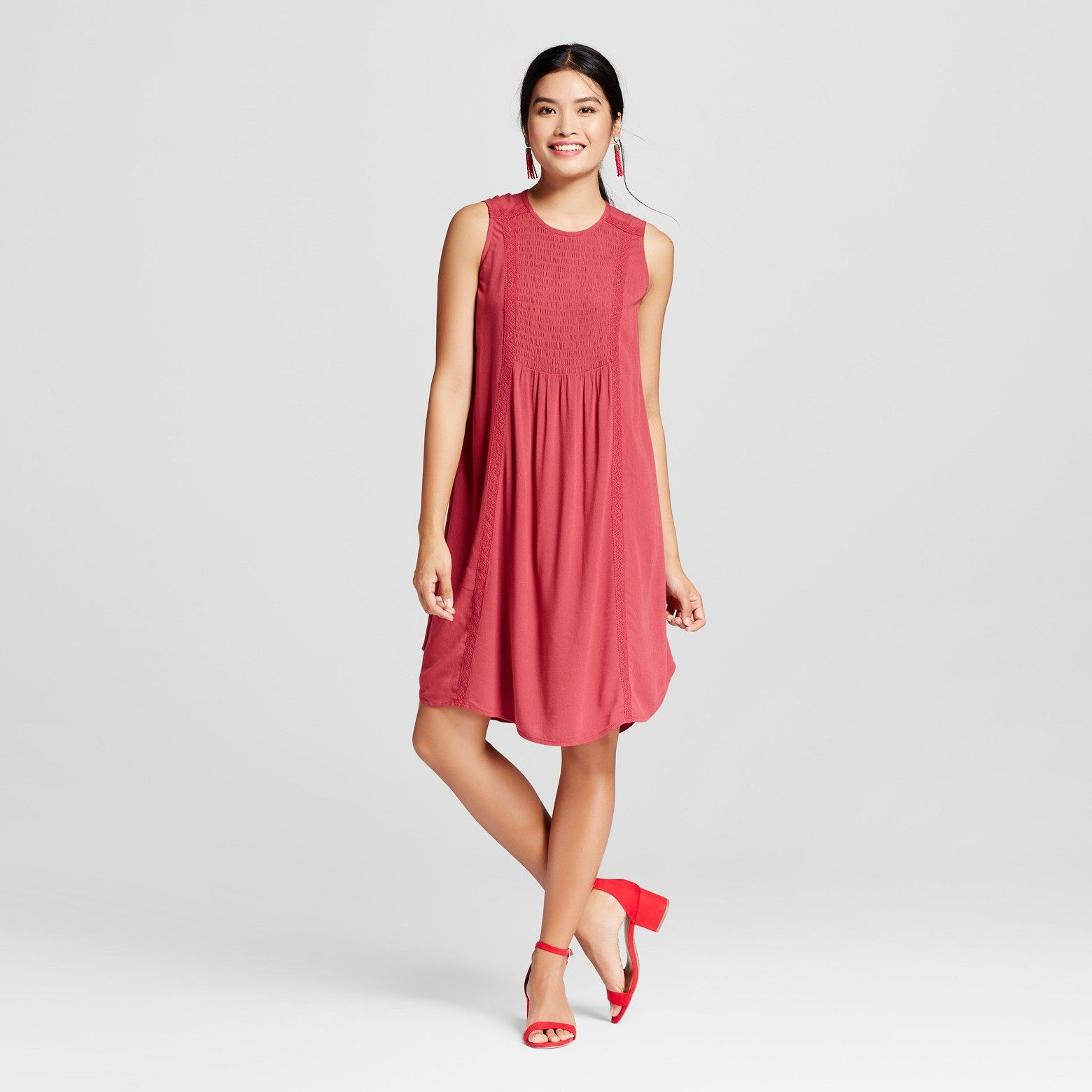 a71780cf594 Add a sense of casual comfort this summer with the Smocked Front Shift Dress  from Knox