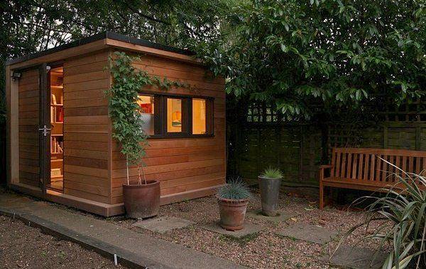 Ejemplo de caseta prefabricada para usar como oficina for Como hacer una caseta de jardin barata