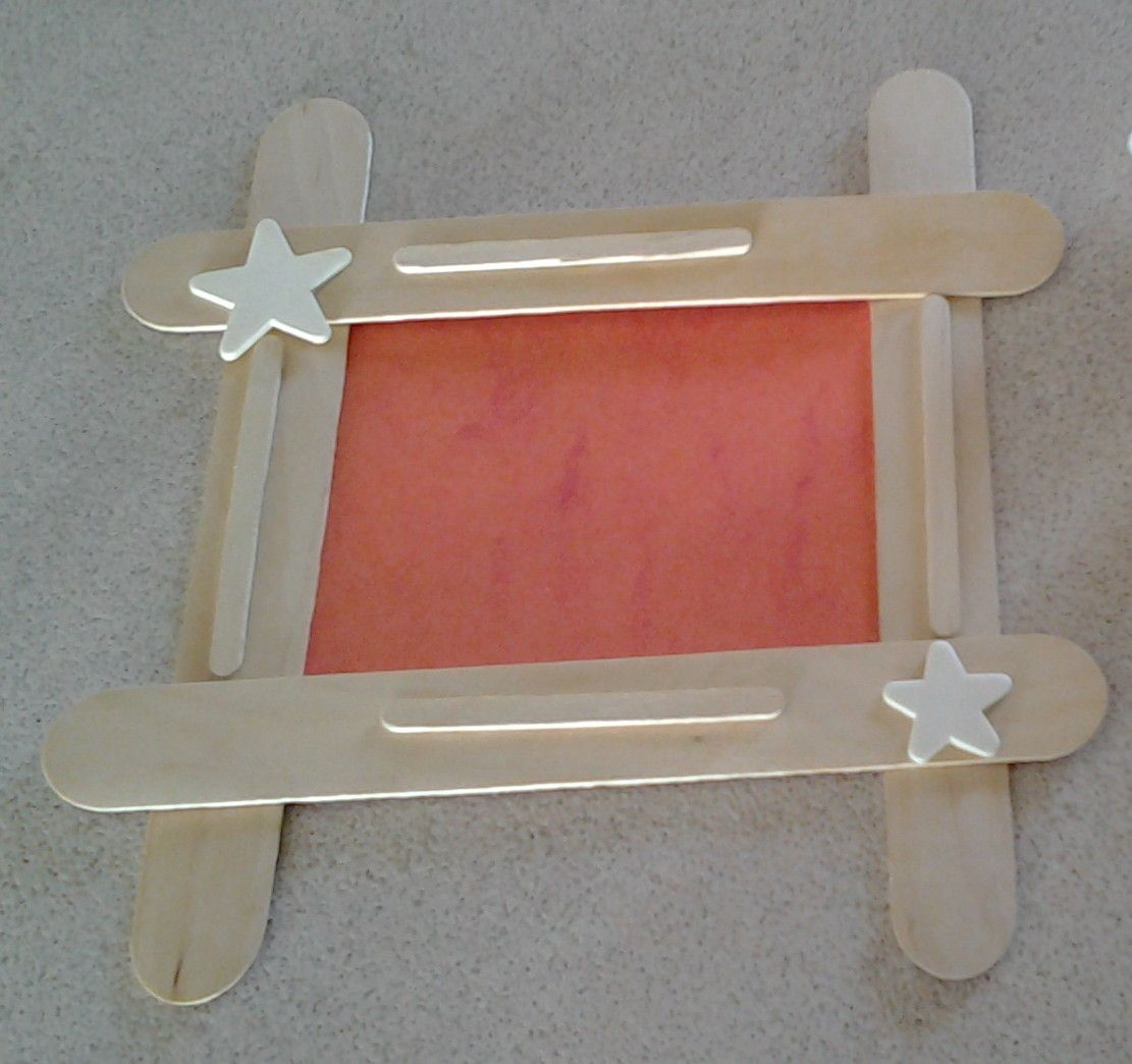 Popsicle stick picture frame kids crafts pinterest craft popsicle stick picture frame jeuxipadfo Gallery