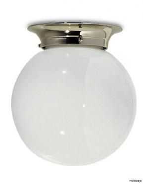 Lefroy Brooks Classic Flush Globe Light Bathroom Ceiling Lights Traditional Bathroom Lighting