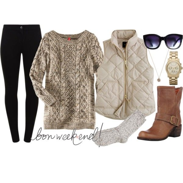 fall style, black pants tan boots
