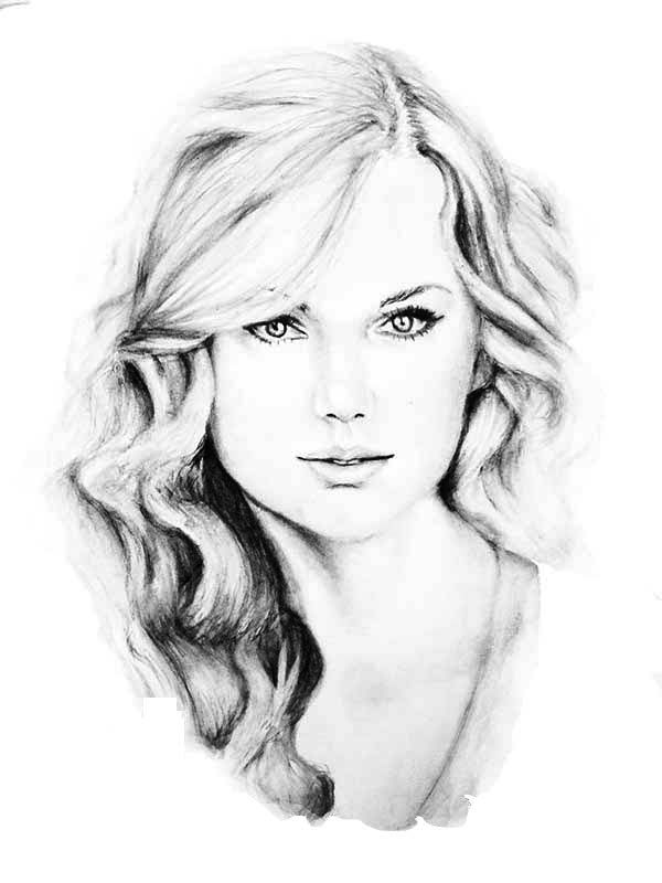 taylor swift awesome sketch of taylor swift coloring page - Taylor Swift Coloring Pages