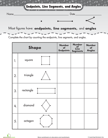 Shape Basics: Lines, Endpoints, and Angles | 2nd grade ...