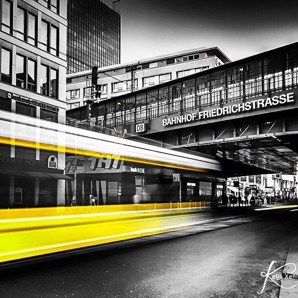 #berlin #bahnhof #friedrichstrasse #train #station #strassenbahn #colourkey #colourflash #street #bnw #hdr #instagood #photooftheday #germany #city #citylife #diestadtberlin #yellow #wusch by katja_x_berlin