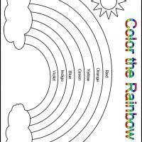 Printable Color the Rainbow Kindergarten Worksheet ...