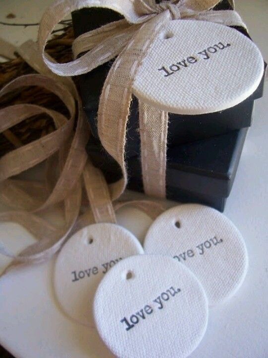 DIY cute gift tags