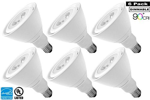 Luxrite Lr24144 6pack 17w Par38 Led Light Bulb 120w Equivalent Dimmable Cri 90 Bright White 5000k Flood Light Bulb Ene Led Light Bulb Flood Lights Bulbs Energy