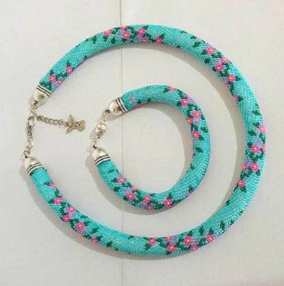 GREAT DISCOUNTS Turquoise Bead crochet Jewelry by SERMINCEJEWELRY ...