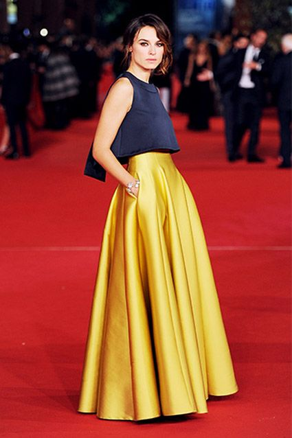 7 with ball skirt | looks | Pinterest | Ball skirt, Formal crop ...