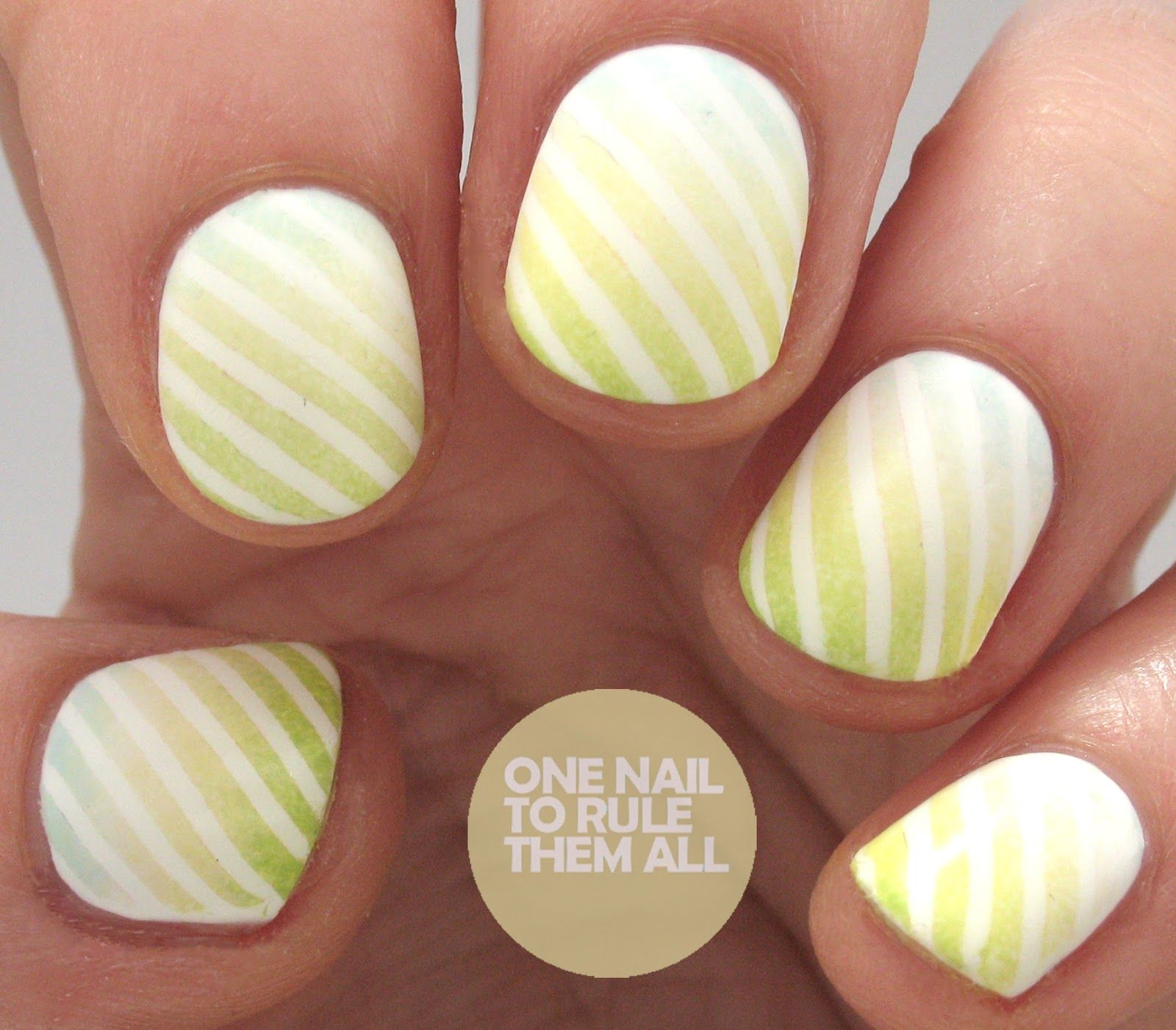 One Nail To Rule Them All: Gradient Barry M Stripes   Nail designs 2 ...