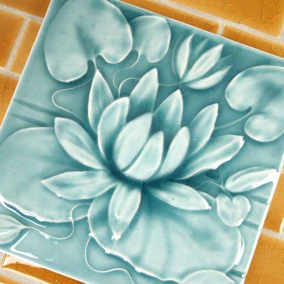 Magnificent 12X12 Tiles For Kitchen Backsplash Thin 12X24 Ceiling Tile Round 12X24 Ceramic Tile 24 Inch Ceramic Tile Old 24 X 48 Ceiling Tiles Brown3X6 Subway Tile Backsplash Waterlily Handmade Ceramic Tile Victorian By LesperanceTile ..