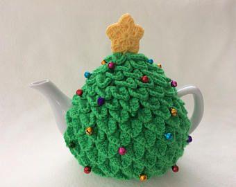Christmas Tree Tea Cosy Crochet Teacosy Hand Crocheted Tea Cosy Christmas Tea Cosy Tea Cosy Crochet Tea Cosy Christmas Tea
