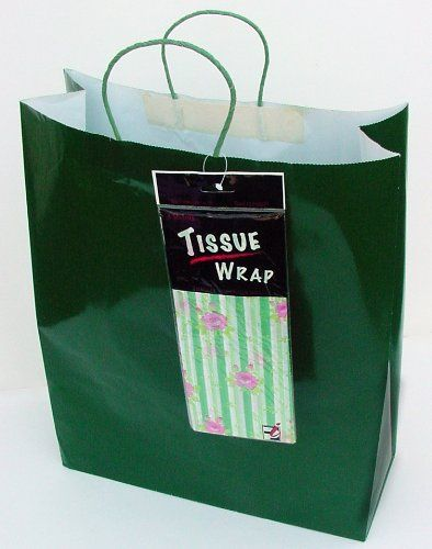 72 Jumbo Green Gift Bags W Tissues 6dz Total Find Out More About The Great Product At The Image Link Green Gifts Gift Bags Gifts