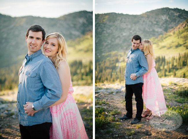 Albion Basin Engagements couple and mountain views