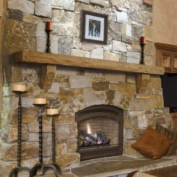 Stone Mantle And Stone Corbels From Pearl Mantles. Avail 60