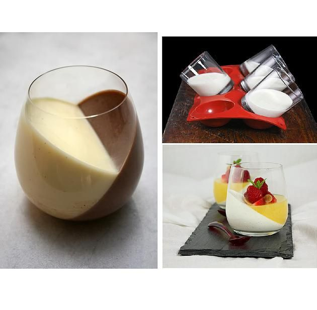 Sweetooth Design: Blog for Creative Ricette Dolci & Storia Knowledge | Dessert inclinata: Pudding / Yogurt / Jello / Gelee / Panna Cotta