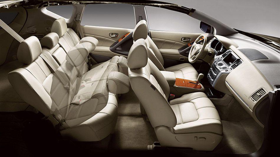 60 40 Split Fold Down Rear Seatbacks With Cargo Area Accessible Levers Nissan Murano Nissan Murano