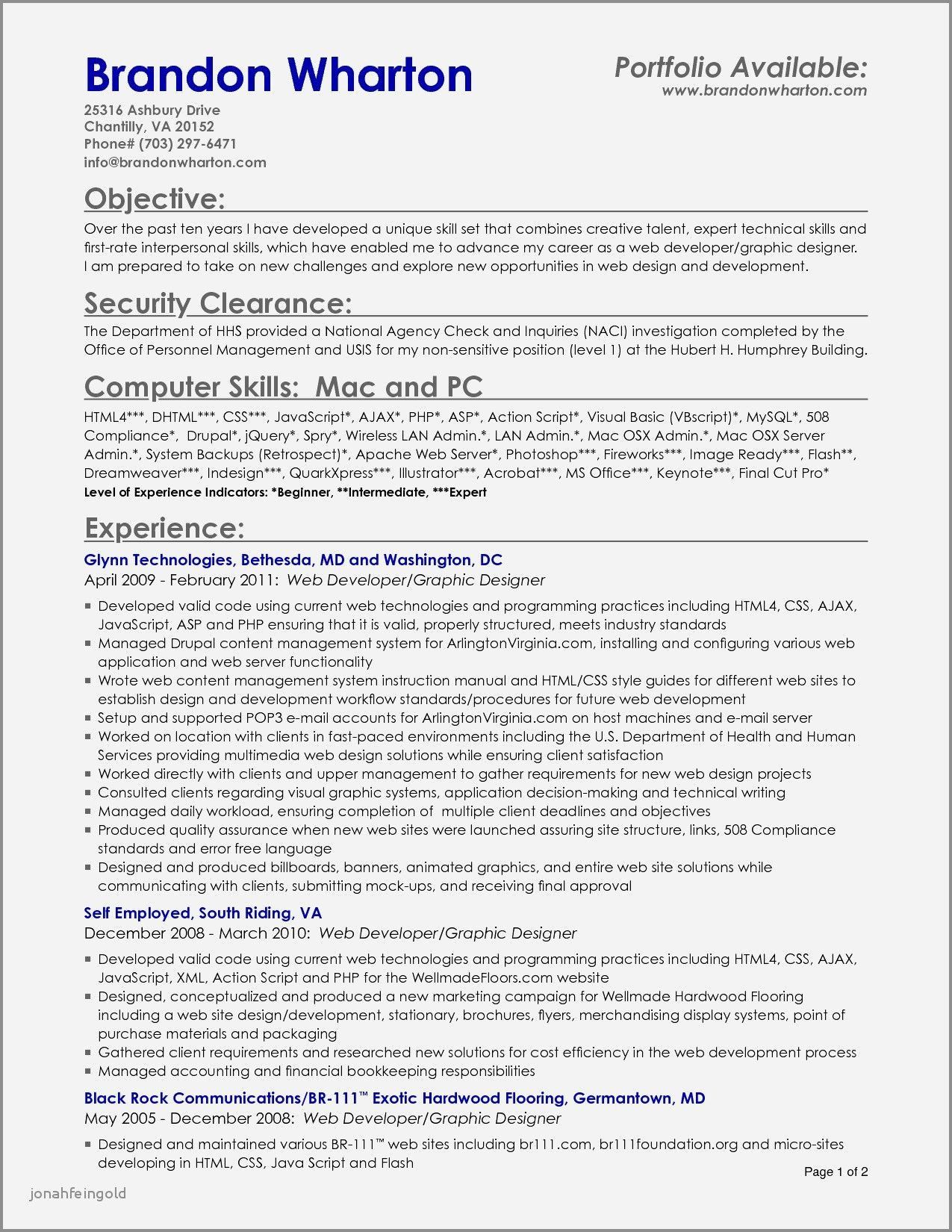Entry level cyber security resume 65 beautiful collection