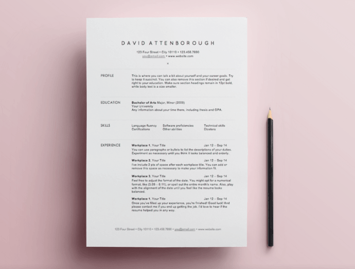 Free Resume Templates  Advice Template And Perfect Resume