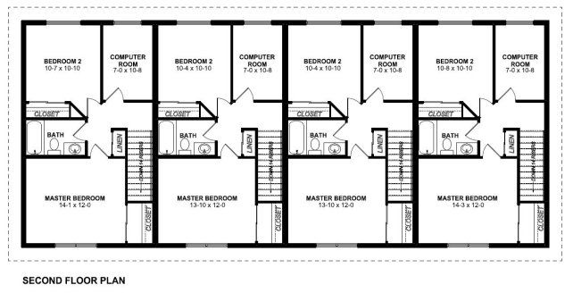 family of four house plans. Plan No 195181 Second Floor  Casas estreitas Pinterest