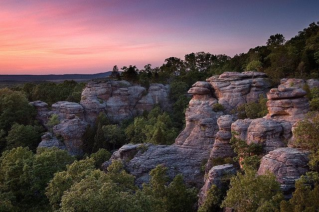 Garden Of The Gods Illinois Shawnee National Forest