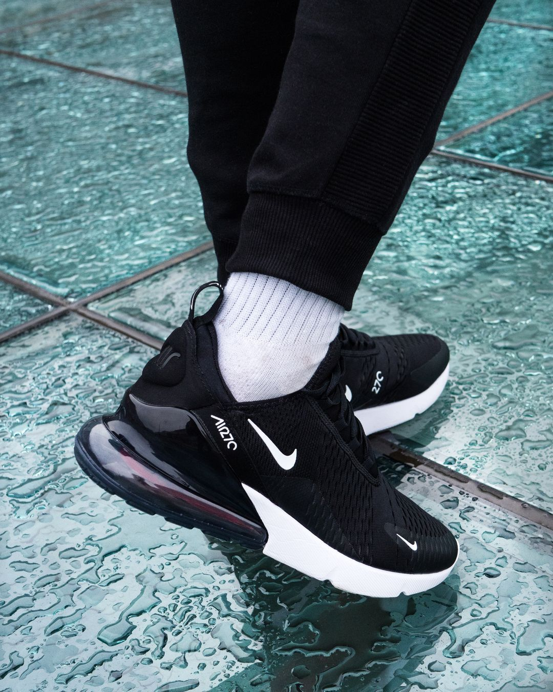 eddf2b0cb64 Nike Air Max 270 Black and Anthracite White