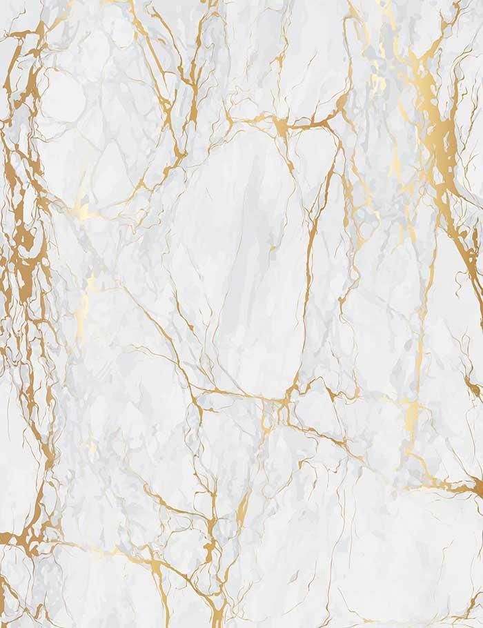 Smoke White Marble With Golden Texture Photograhy Backdrop J-0197 #easyupdo