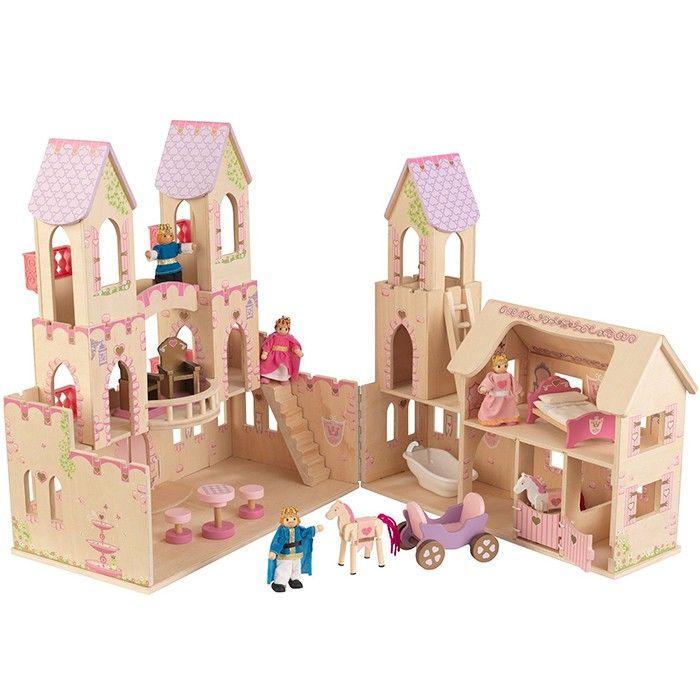 Castillo de princesas de madera amueblado kidkraft - Casitas de princesas ...