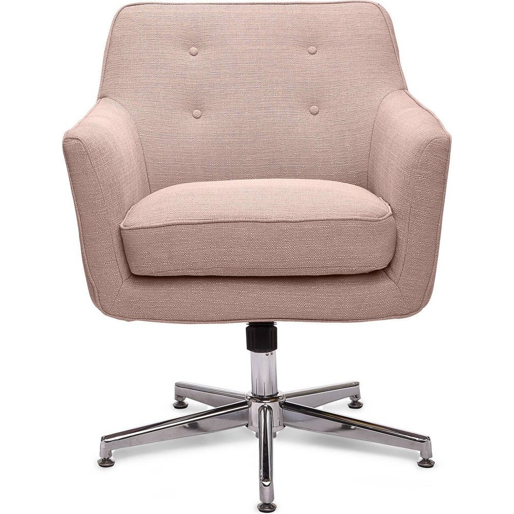 Magnificent Style Ashland Home Office Chair Party Blush Pink Serta Cjindustries Chair Design For Home Cjindustriesco
