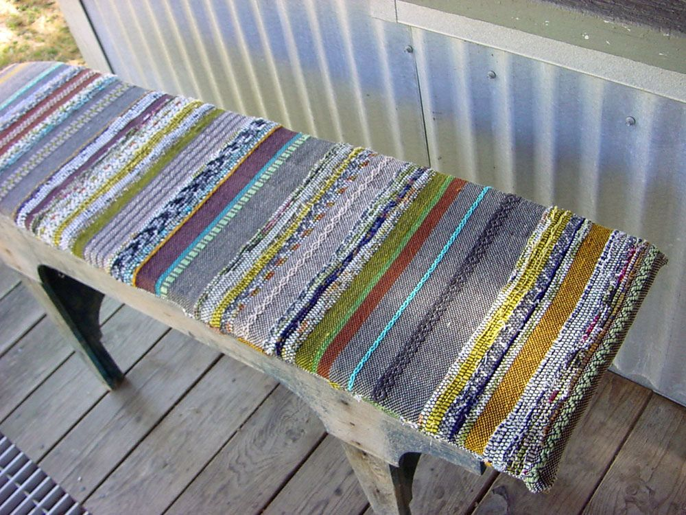 rag weave, linen, and cotton cushion