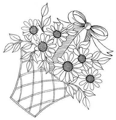 Flower Basket Embroidery Pattern Embroidery Flower