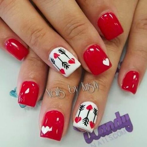 15 nail designs that make valentines day worth it manicure 15 nail designs that make valentines day worth it short red nailsshort prinsesfo Images