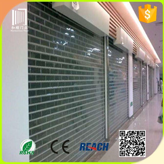 Source Bulletproof Automatic Transparent Roller Shutter Roller Shutters Shutters Shutter Doors