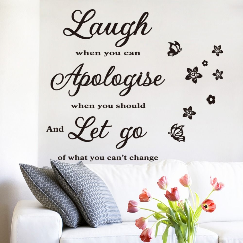 2016 New Vinyl Wall Quotes Life Stickers Stars Words Decals ...