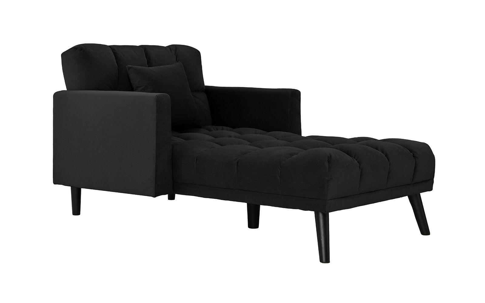 Ellery Modern Velvet Chaise Lounge Sleeper Chaise Lounge Tufted Chaise Lounge Mid Century Modern Chaise Lounge