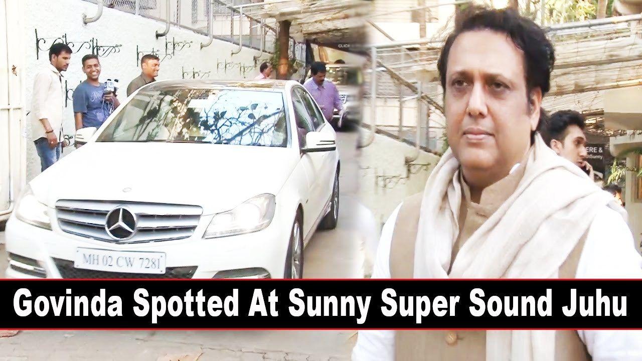 Govinda At Sunny Super Sound For Film Aa Gaya Hero