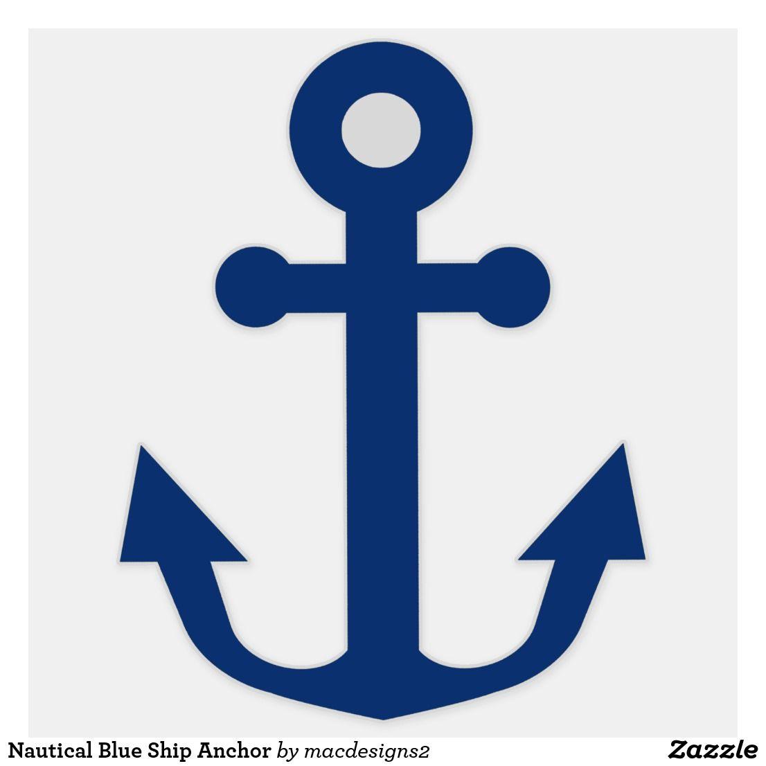 Nautical Blue Ship Anchor Sticker