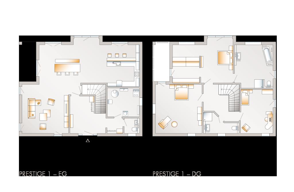 Prestige 1 Einfamilienhaus allkauf Raumaufteilung