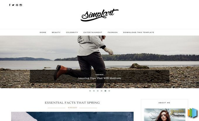 Simplart Blogger Template Free Professional Blogger Template - Blogger photography templates professional