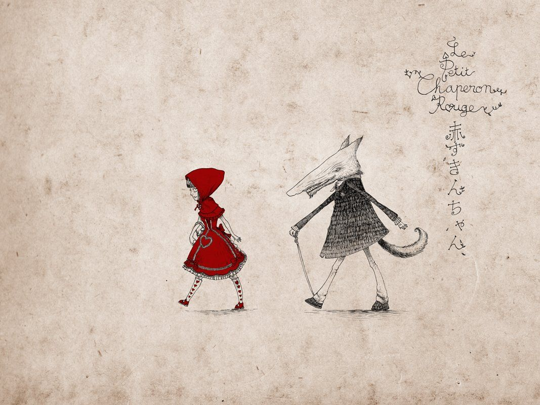 Fond D Ecran Le Petit Chaperon Rouge La Couleur Des Sentiments Chaperon Rouge