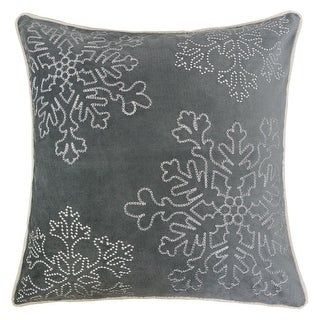 Sophia Christmas Holiday Oversized Pillow with Insert (Gray)(Polyester, Embroidered)