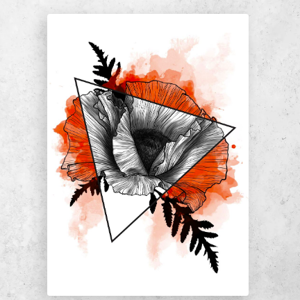"""Poppy Prism"" Metal Poster Print by Kaisa Holsting 
