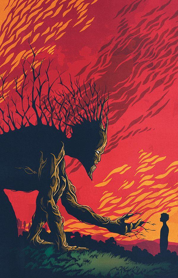 A Monster Calls On Behance Posteres De Filmes Depois Da Meia