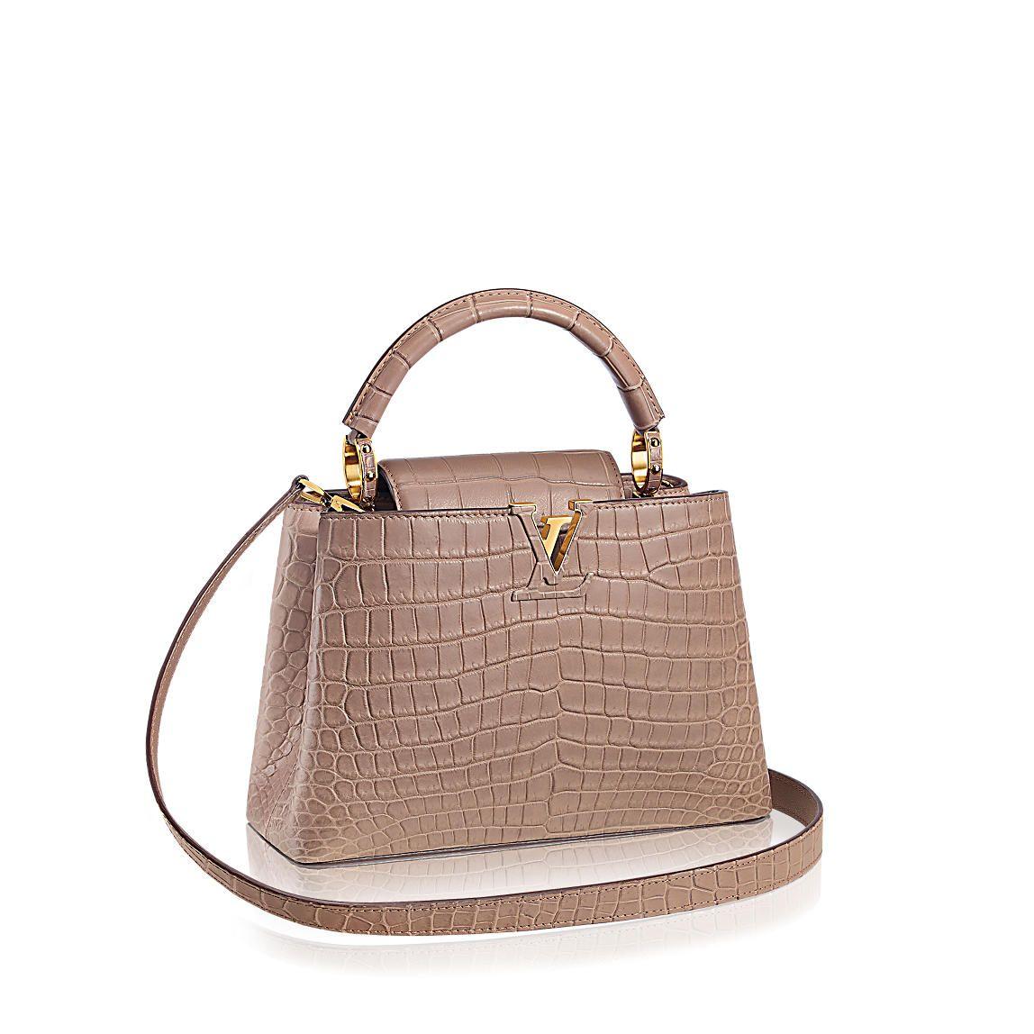 Louis Vuitton BB Capucines taupe matte croc mini bag  c01ab15a42010