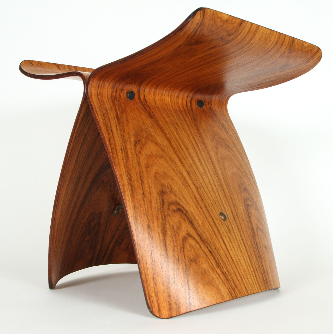 Butterfly chair sori yanagi - For Sale On A Beautiful Light Rosewood Butterfly Stool Retaining The Original Tendo Sticker Wonderful Natural Patina To The Brass Rod Stretcher And