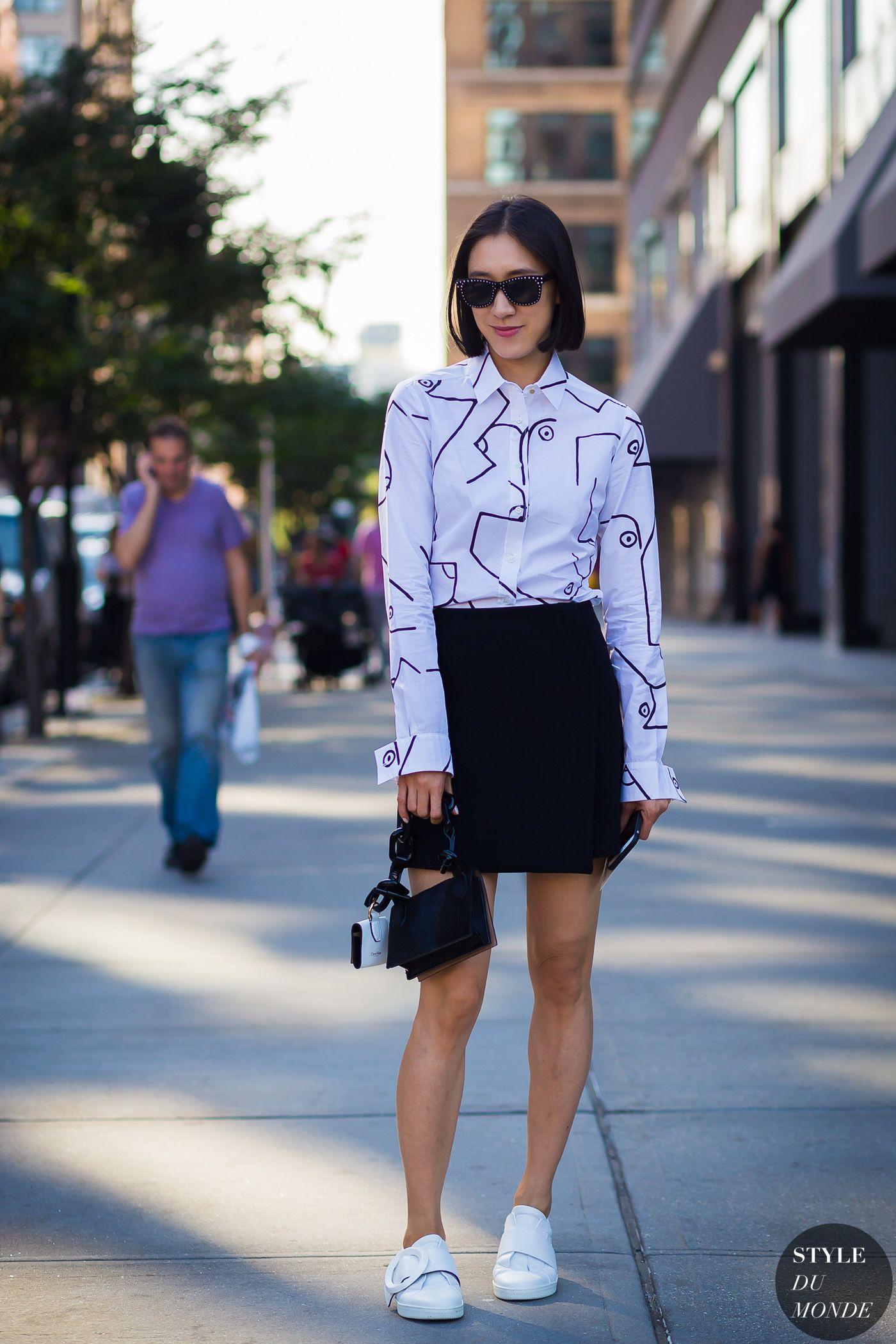 988c6a3916 New York Fashion Week SS 2016 Street Style: Eva Chen     STREET ...
