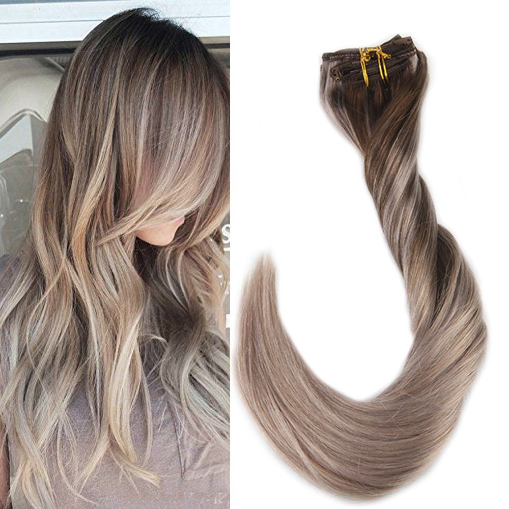 9 Pcs Clip In Full Hair Extensions Real Hair Clip In Extensions