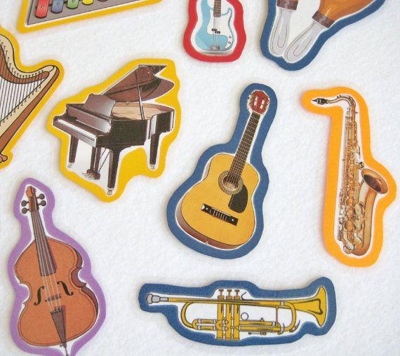 Musical Instruments Felt Board Flannel Board Set by NodinsNest