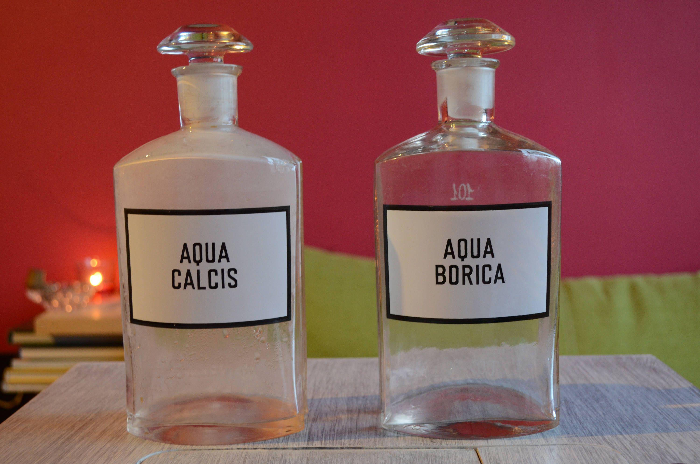 Vintage Pharmacy Glass Bottle Extra Large Etsy Bottle Glass Bottles Glass
