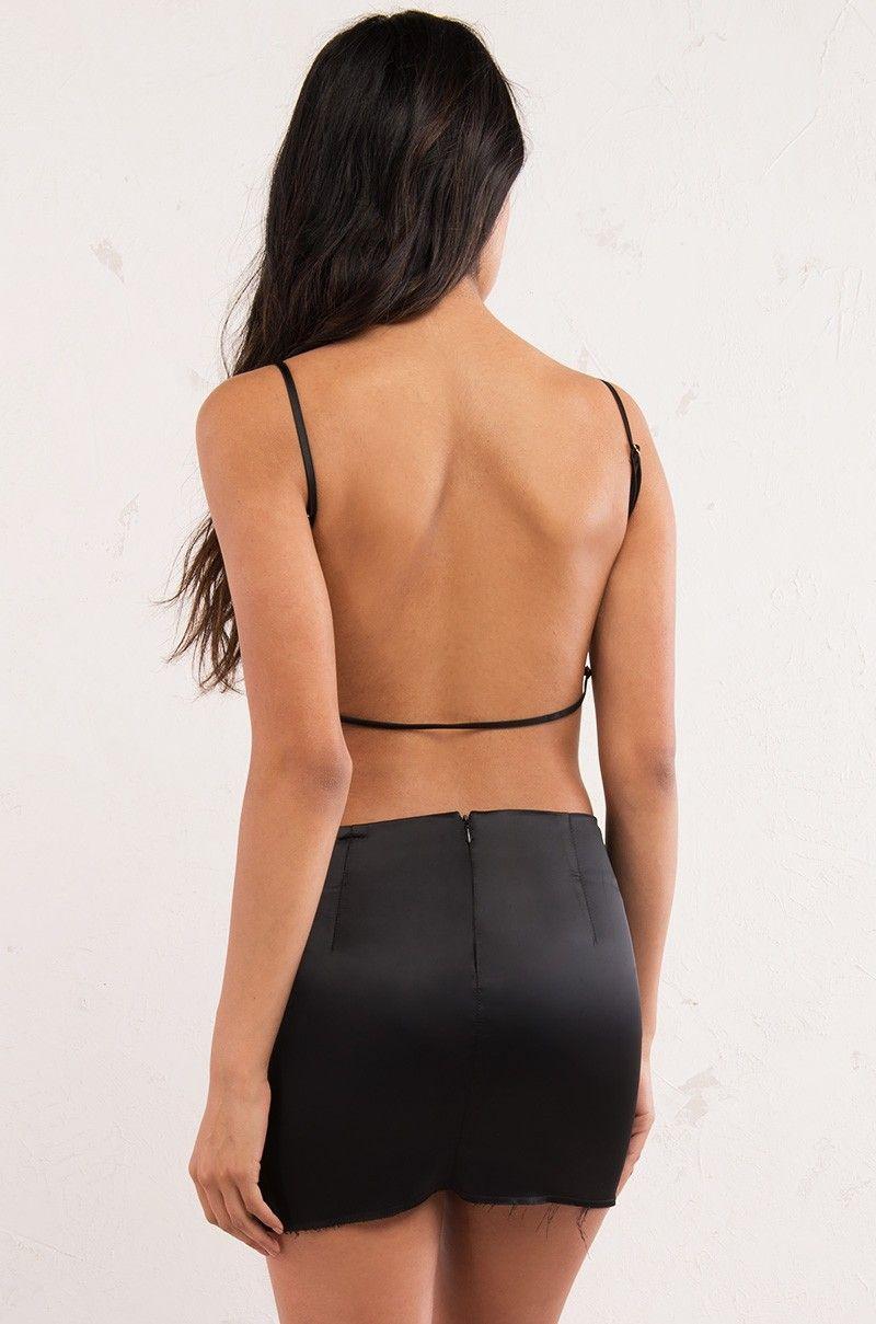Back view longing for you dress in black womenus fashion